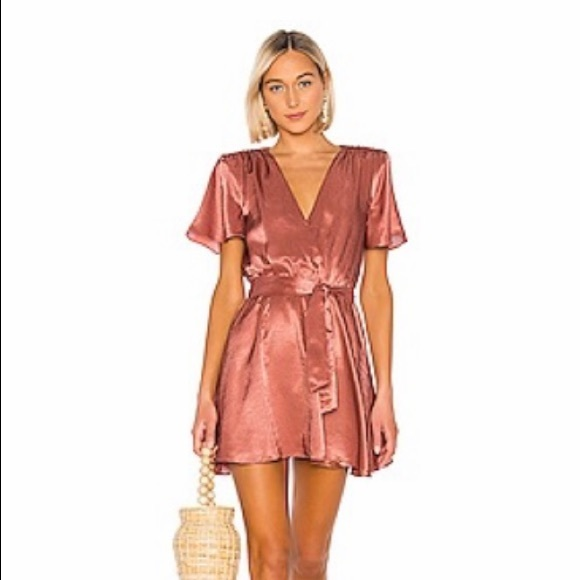 HOUSE OF HARLOW COPPER DRESS